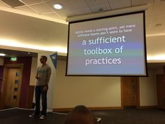 """codurance on Twitter: """". @simonbrown giving a very good keynote at @SwanseaCon…"""