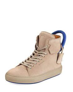 BUSCEMI MEN'S 125MM NUBUCK HIGH-TOP SNEAKER. #buscemi #shoes #