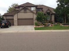 Tan House With Dark Brown Trim. Exterior House ColorsExterior ...