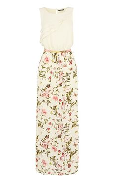Call off the search ladies we've found the perfect maxi dress to wear this spring! The cute and delicate rouched fabric on the front and keyhole cut-out back adds the perfect amount of subtle detail while the cream colour melts perfectly into the floral butterfly print skirt.