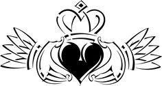 Celtic symbols narrate stories of eternal love and romance. Celtic love symbols indicate numerous meanings and emotions. Gälische Tattoo, Gaelic Tattoo, Claddagh Tattoo, Claddagh Symbol, Tattoo Girls, Girl Tattoos, Tattoos For Women, Tatoos, Celtic Tattoo For Women