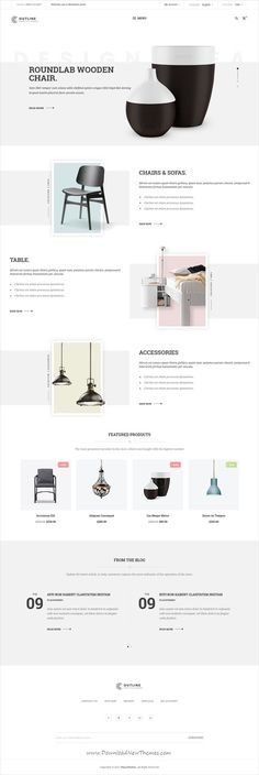 Outline is clean and modern design 6in1 responsive #OpenCart theme for stunning #decor, furniture store #eCommerce website download now..