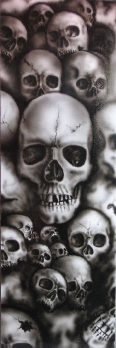 Skulls Of Horror Arte Dope, Totenkopf Tattoos, Skull Pictures, Arte Horror, Airbrush Art, Skull Design, Skull Tattoos, Grim Reaper, Skull Art