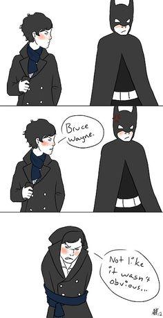 Sherlock + Batman :) I imagine them crossing paths every so often.