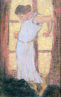 The Athenaeum - Women Dressing in front of a Window (Edouard Vuillard - )