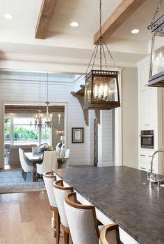 Kitchen with Lanterns & Wooden Beams