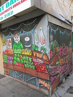 graffitti fruit store - so cute and fun!