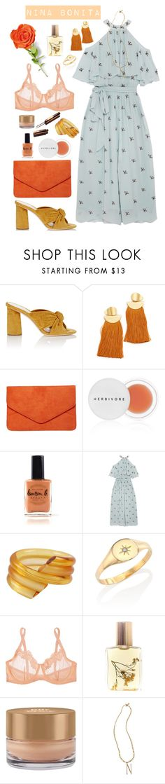 """Nina Bonita"" by jujubeeluvsu ❤ liked on Polyvore featuring Loeffler Randall, Lizzie Fortunato, Dorothy Perkins, Herbivore, Lauren B. Beauty, Temperley London, Judith Hendler, Jacquie Aiche, Mimi Holliday by Damaris and Flidais Parfumerie"