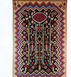 Siikainen Ryijypalvelu RP Oy, a traditional design from Finland. Rya Rug, Wool Rug, Scandinavian Embroidery, Traditional Design, Bohemian Rug, Textiles, Abstract, Sewing, Rugs