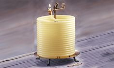 Coiled wax candle than burn for 144 hours and will auto-extinguish themselves making them safer than your traditional candle.Global shipment available.