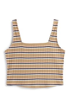 Kort gestreept topje met vierkante hals Going Out Crop Tops, Cute Crop Tops, Diy Summer Clothes, Summer Diy, Pleated Shirt, Neue Outfits, Shell Tops, Holiday Outfits, Outfits