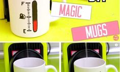 How to make DIY color changing mugs