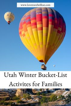 Winter in Utah is filled with many adventure activities. Our Utah Winter Bucket List Activities will inspire some new adventures this winter. Adventure Activities, Travel Activities, Winter Activities, Travel Advice, Travel Guides, Travel Tips, Canada Travel, Travel Usa, Us Travel Destinations
