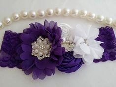 Purple Headband/Baby Headband/Baby Headbands and Bows/Infant Headband/Baby Girl Headband/Girl Headband…