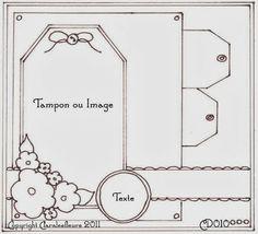 Claralesfleurs - Sketch de carte CD010