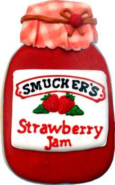 Smucker's strawberry jam cookie