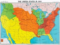 United States in 1810, U.S. History Map