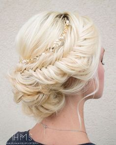Stylish wedding hairstyle idea; via Hair & Makeup by Steph;