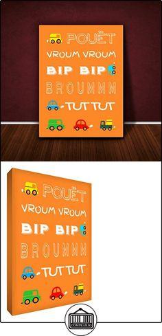 """Poco Lienzo ayudante en el fotograma Zoom Zoom Orange (24x 16 """")  ✿ Regalos para recién nacidos - Bebes ✿ ▬► Ver oferta: http://comprar.io/goto/B00X1IJ3P6"""