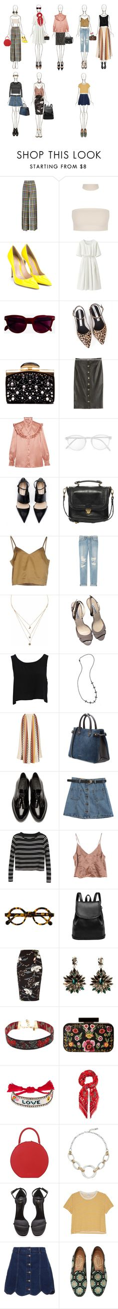 """""""Untitled #187"""" by lrdisawesome ❤ liked on Polyvore featuring Marco de Vincenzo, Gianvito Rossi, Uniqlo, Derek Lam, Zolà, Nina Ricci, FAUSTO PUGLISI, Yves Saint Laurent, RetroSuperFuture and Pieces"""
