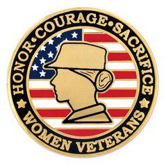 d05a05d8772 Female Veteran Pin. PinMart. Military WomenVeterans ...