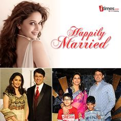 """Madhuri Dixit is one of those lucky ones who enjoys success in professional as well as personal front. Let's take a look at the """"Dhak Dhak"""" girl's rare family pics on her marriage anniversary."""