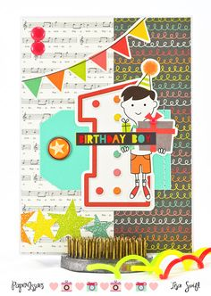 Card Share: Birthday Boy (Simple Stories Let's Party) for Paper Issues