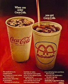 nice 1960s Ad Vintage Advertisement McDonalds Coca Cola by Christian Montone, via Fli...