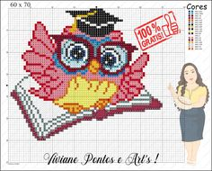 Beaded Cross Stitch, Cross Stitch Charts, Cross Stitch Patterns, Loom Patterns, Craft Patterns, Pix Art, Pixel Art Templates, Christmas Embroidery Patterns, Owl Crafts
