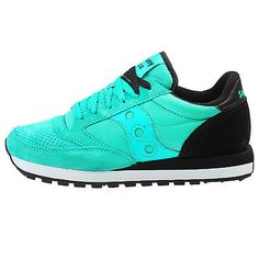 Saucony Jazz Original St Mens S70194-1 Mint Black Running Shoes Sneakers Sz 10.5