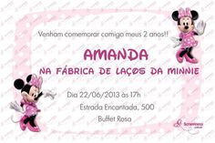 Convite Digital - Minnie #2 | Festas Personalizadas | Lembrancinhas | Scrap Festa | Scrappiness Designs