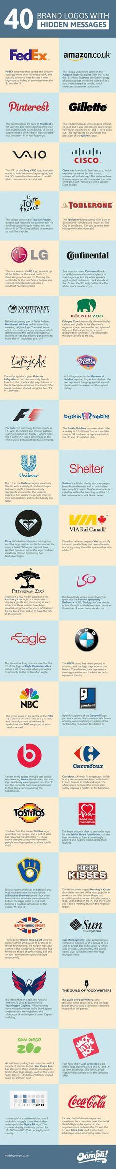 40 Logos mit geheimen Botschaften http://onlinemarketing.de/news/40-weltbekannte-firmenlogos-mit-geheimen-botschaften