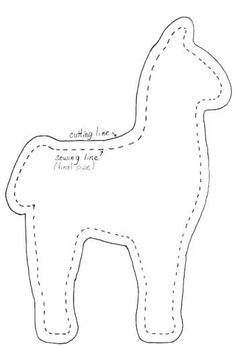 Peru: sew llama out of felt, weave a blanket, button eyesSew, (pun intended) what you will see when you click this link is about how important llamas are in Peru and the pattern as seen above to make a stuffed llama.Alpaca Pattern Use The Printable O Felt Patterns, Pdf Sewing Patterns, Craft Patterns, Stuffed Toys Patterns, Sewing Toys, Sewing Crafts, Sewing Projects, Felt Crafts Diy, Alpacas