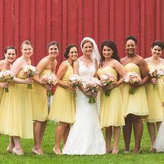 Yellow Bridesmaid Dresses | Concept Photography | TheKnot.com