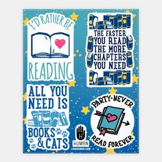 Read Forever Stickers | Stickers, Sticker Sheets and Vinyl Stickers | HUMAN