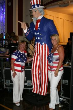 Giant Uncle Sam | American Diner Theme | Event Prop Hire