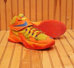 check out 5c57c 406f3 2014 Nike Lebron Soldier VIII 8 Size 6.5Y - Yellow Orange Blue - 653645 700