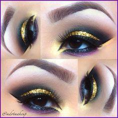 Unique. Black purple cut crease makeup Barbarabeaute barbarabeauté