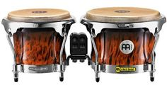 Meinl Free Ride Series Wood Bongos Brown Burl by Meinl Percussion. $279.99. The MEINL FWB400 Free Ride Series Wood Bongos are the preferred bongo model by many top percussionists.  Exceptional sound qualities combined with a wide variety of colors make it the perfect bongo for the working musician.