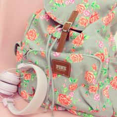 The perfect girly backpack; Pink by Victoria's Secret.