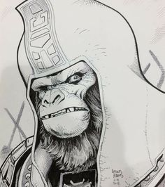 Classic Planet of the Apes : General Ursus by Arthur Adams Comic Book Artists, Comic Artist, Comic Books Art, Character Illustration, Illustration Art, Planet Comics, Comic Book Collection, Fantasy Comics, Fantastic Art