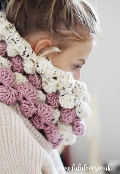 Crochet Patten - Giant Bobble Cowl