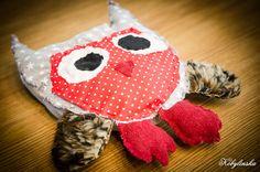 Mascot of felt sewn children
