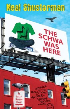The Schwa was Here by Neal Shusterman,http://www.amazon.com/dp/0142405779/ref=cm_sw_r_pi_dp_gIkysb19Q2XVRNQS