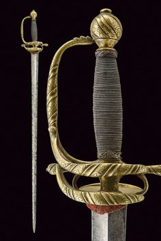 Buy online, view images and see past prices for An elegant small sword. Invaluable is the world's largest marketplace for art, antiques, and collectibles. Italian Police, Small Sword, Wire Binding, Swords And Daggers, Cold Steel, Rare Antique, Floral Motif, 18th Century, Blade