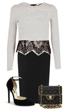 """Untitled #42"" by miagrace7 ❤ liked on Polyvore featuring WearAll, River Island and Chanel"