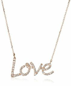 "KC Designs ""Peace and Love"" 14k Rose Gold and Diamond ""Love"" Pendant Necklace and Chain, 16"" KC Designs. $1125.00. Designed in New York. Finished weight is 1.9 grams. You will ""love"" this diamond pendant. Chain is made in either turkey or Indonesia. Made in USA. To keep your diamond jewelry sparkling, clean with warm water and a mild detergent. Store in the pouch provided."