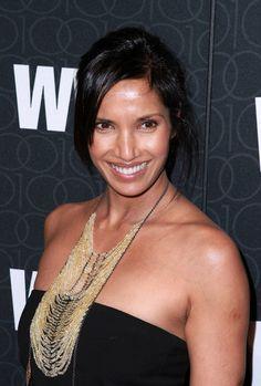 Padma Lakshmis long, straight hairstyle