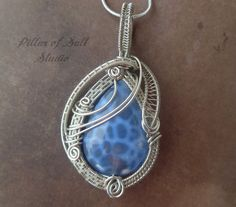 Wire wrapped pendant / Wire Wrapped jewelry by PillarOfSaltStudio, $44.00