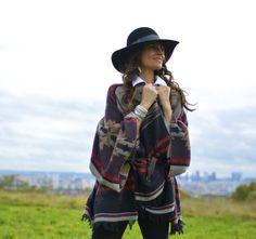 """Mon style """"Poncho""""  #sofrenchbynaty #ootd #tendances #GatRimon #IsabelMarant"""